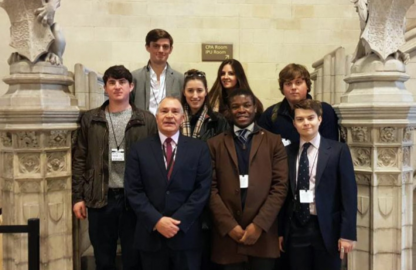 Steve Bell CBE with Sussex University Conservatives