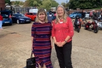 Maria Caulfield MP at the electric car show with organiser Julia Waterlow