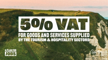 VAT for hospitality and tourism sector cut to five per cent until January